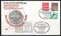 Germany 1990 cover SST Sonderstempel Bonn Staatsvertrag BRD und DDR