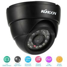 KKMOON 1200TVL 1/3in Color CMOS CCTV Camera IR-CUT 24pcs IR LEDs Black NTSC K2O5