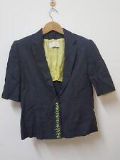 KRIZIA Linen Black Green Blazer made in Italy Size M