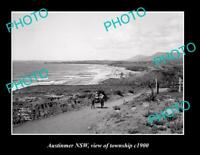 OLD POSTCARD SIZE PHOTO OF AUSTINMER NSW VIEW OF TOWNSHIP c1900