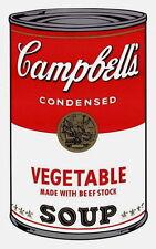 Campbell's Soup-Vegetable (Sunday B. Morning), Silkscreen, Andy Warhol