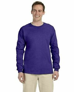 Fruit of the Loom Men's 100% Cotton Long Sleeve T-Shirt S-3XL L/S Tee 4930