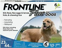 Frontline Plus for Medium Dogs 23-44 lbs. 6 Doses - flea and tick treatment
