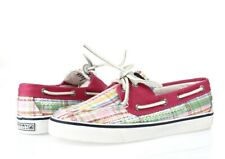 Sperry Top Sider Womens Multicolor Sequined Fabric Slip On Boat Shoes Size 5.5 M