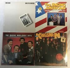 4 ALBUM SOUTHERN GOSPEL QUARTET VINYL KINGSMEN, SINGING AMERICANS DMB BAND