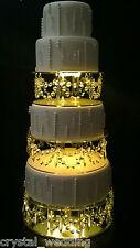 Crystal  wedding Cake Stands  Drape design glass crystals
