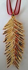 """Pine needle Window Ornament 24K GOLD PLATED Made in USA Gold Gift Box 3.5"""" x 2"""""""