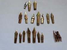 LOT GOLD NIB 14K 585 FOR PENS PELIKAN MONTBLANC KAWECO GEHA LUXOR PARKER OTHER