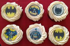 12 x 4cm Batman Edible Cupcake Toppers - PRECUT