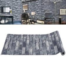 3D New Grey Neutral Brick Wallpaper Feature Wall Paper Rolls mural Stone Effect