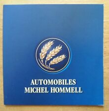 HOMMELL BERLINETTE RS RS2 orig 2002 French Mkt small format Sales Brochure