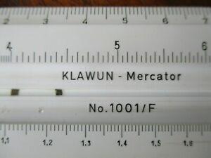 Rechenstab des Kaufmanns 1001/F KLAWUN Mercator Hannover Nestler Rechenschieber