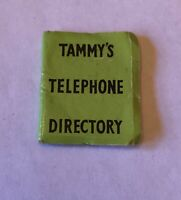 Vintage Ideal Tammy Doll Family Telephone Phone Directory