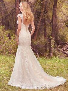 Maggie Sottero - Larissa wedding dress, size 18, Ivory over Gold, NWT