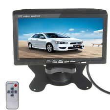 7'' HD 800x480 TFT Color 2 Video Input DVD VCR Headrest Car Rear View Monitor