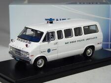 (KI-10-21) Neo Scale Models Dodge San Diego Police Ambulance IN 1:43 IN Boxed