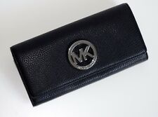 MICHAEL KORS Geldbörse Portemonnaie FULTON FLAP CONTINENTAL schwarz 35T3SFTE1L