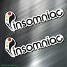 (2) TWO INSOMNIAC Vinyl Decal Sticker For Car Laptop Skateboard NEW EDM MUSIC