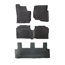 OEM NEW 18-19 Ford Expedition All Weather Tray Rubber Floor Mats, w/ 3rd Row Mat