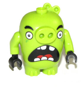 Lego Angry Birds New Piggy 3 Green Pig Figure Scared Look Face