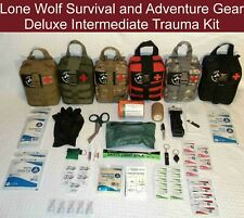 Deluxe 54 Item Custom Intermediate Trauma Kit in MOLLE Tactical Pouch