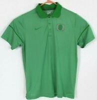 Nike Dri-Fit Mens Sz Medium Oregon Ducks Green Stripe Short Sleeve Polo NCAA EUC