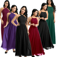 Women Elegant Bridesmaid Prom Ball Gown Formal Evening Party Cocktail Maxi Dress