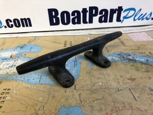 """8"""" Black Aluminum Herreshoff Boat Cleat"""