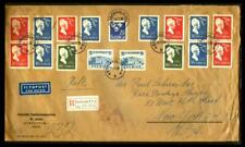 Stockholm Sweden To New York 1956 Registered Oversized Cover See Photos Bx-21