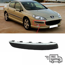 FOR PEUGEOT 407 2004-2010 NEW FRONT BUMPER CHROME MOLDING TRIM RIGHT N/S 7452CC