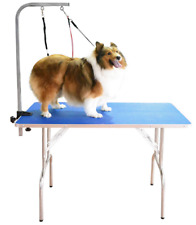 SHELANDY Professional pet Grooming Table Double leashes clamp large dogs OK