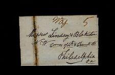 """LEESBURG VA """"Way 5"""" on 1847 1pg to Lindsay & Blakiston, 4th & Chesnut, Phila."""