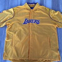 VTG Reebok Lakers Team Apparel Warm Up Shooting Shirt Embroidered Men's 2XL NBA