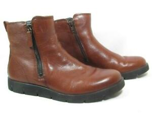 Ecco Ankle Bootie Women size 38 US 8 Brown Leather
