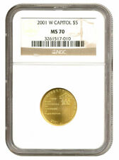 2001-W Capital Visitor Center $5 Gold - NGC MS70