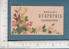 8320 Renear's German Dyspepsia Powder trade card Philadelphia PA patent medicine