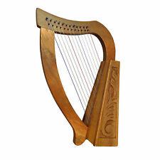 Muzikkon 12 cordes harpe Heartland O'Carolan noyer, harpe celtique et irlandaise