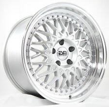 18X9.5 ESM 017 Rims 5X114.3 +15 Silver Wheels Stance Fits Accord Rsx Tsx Tiburon
