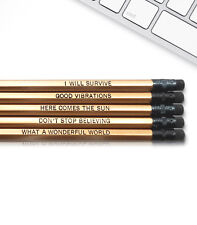 Good Vibes - Inspirational Pencils Engraved With Funny And Motivational Sayings