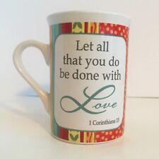 Coffee/Tea Mug - Bible Quote - 1 Corinthian 13 - Love - 2 Sided Graphics -