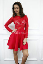 Vestiti da donna rossa di pizzo party