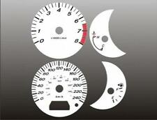 2003-2007 Mazda 6 METRIC KMH KPH Dash Cluster White Face Gauges 03-07