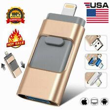 New Otg Memory Photo Stick For iPhone iPad Flash Drive 64/128/256/512Gb Gold Usa