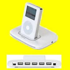 Belkin tunesync iPod/iPhone Dock/puerto Usb 5 Hub Euro Enchufe F5U255EA Apple 30 Pin