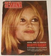 BRIGITTE BARDOT Semana 1969 cover & 3 page article Spain magazine clippings