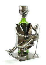 Wine Bodies Dentist w/ Small Patient Wine Bottle Holder Caddy Quirky Decor