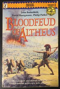 Bloodfeud of Altheus - Cretan Chronicles #1 1985 1st Ed John Butterfield Good