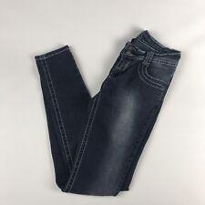 Womens Juniors Size 5/6 Stretch Blue Denim Jeans Pant Apollo Skinny AK