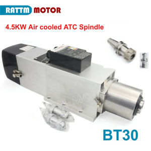 【EU&DE】4.5KW ATC BT30 380V Air cooled Spindle Automatic Tool Change Spindelmotor