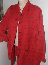 chicos red chat-tee artsy ls cotton buttons ls top size size 1 s m